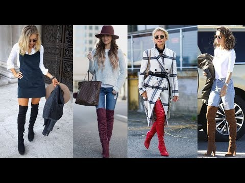 fa0c465f5d How to Wear Thigh High Boots This Winter - Fashion Trends - YouTube