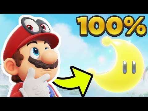 Super Mario Odyssey - Cascade Kingdom ALL 40 POWER MOON LOCA