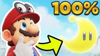 Super Mario Odyssey - Cascade Kingdom ALL 40 POWER MOON LOCATIONS! [100% Guide]