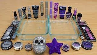 Purple vs Silver - Mixing Makeup Eyeshadow Into Slime! Special Series 183 Satisfying Slime Video