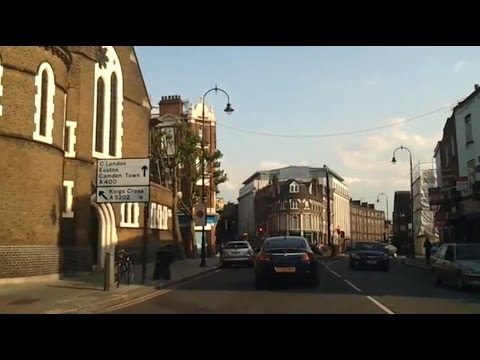 Driving in London - Hampstead Heath to Russell Square