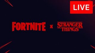 🔴 [LIVE] *NEW* FORTNITE x STRANGER THINGS EVENT! NEW ITEM SHOP SKINS! (FORTNITE BATTLE ROYALE)