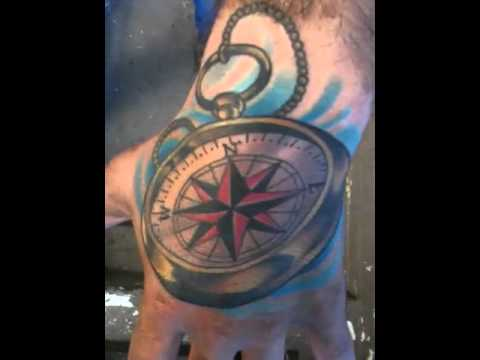 Hand Compass Tattoo Youtube