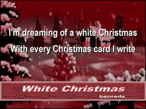 White Christmas - karaoke version - YouTube