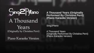 A Thousand Years Originally Performed By Christina Perri Piano