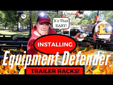 The Best Lawn Care Trailer Racks Full In-Depth Install ► Equipment Defender!