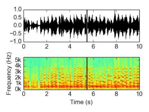 Waveform and Spectrogram Video [wav file]