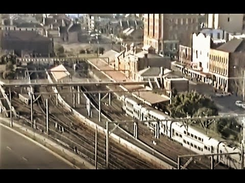 Newcastle Railway Station & Hunter River Views NSW Australia 1992