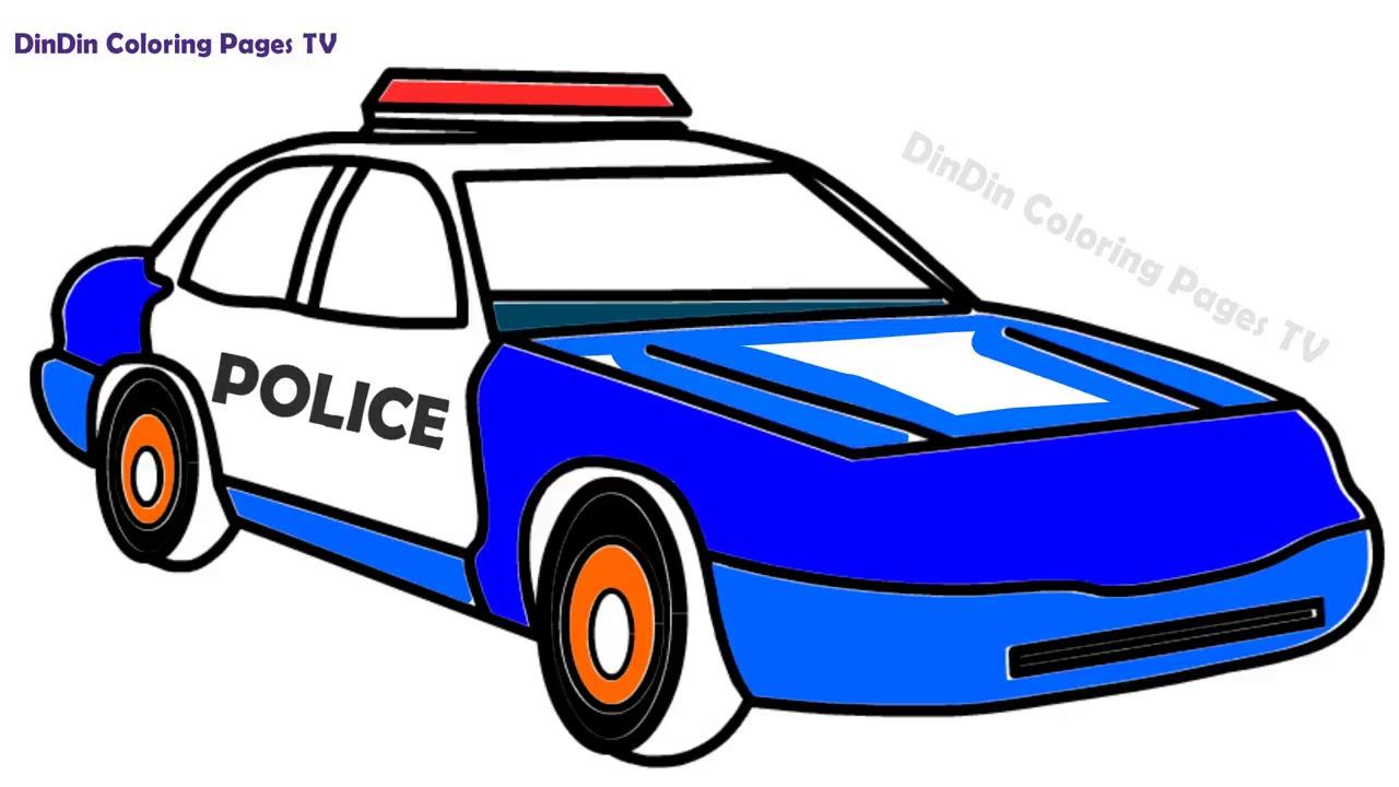 malvorlage polizeiauto zum ausmalen