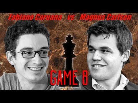 Caruana Vs Carlsen - WCCM 2018 - Game 8 - Fa Piano Caruana