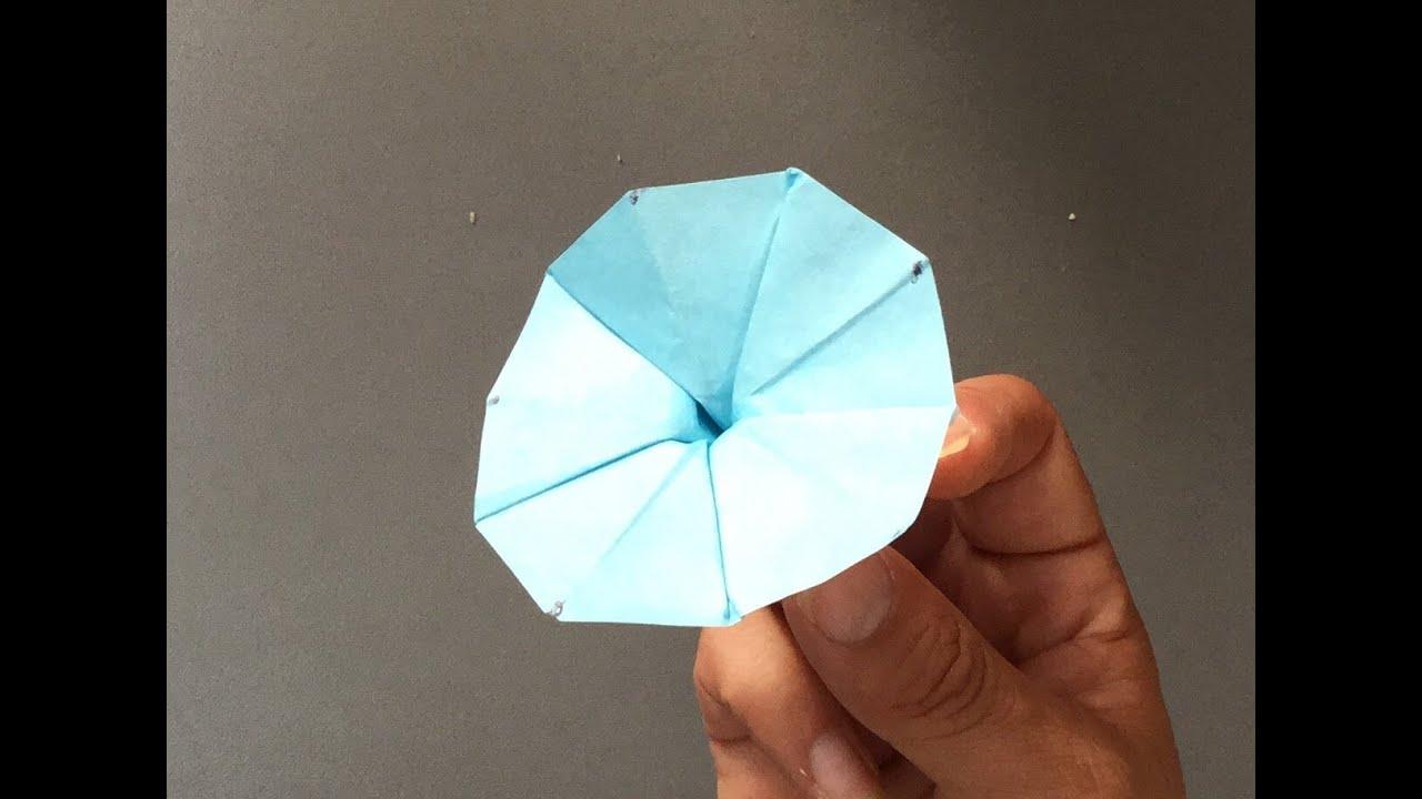 すべての折り紙 折り紙菊の折り方 : 折り紙 アサガオの花 折り方 ...