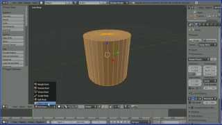 Blender Tutorial Changing the Cap Ends of a Cylinder (and Cone) from Ngons to Triangular Faces