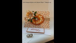 Painted harvest daisy  easel card stampin up