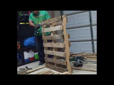 diy pallet wood accent wall youtube. Black Bedroom Furniture Sets. Home Design Ideas