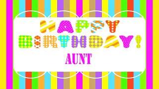 Aunt   Wishes & Mensajes - Happy Birthday