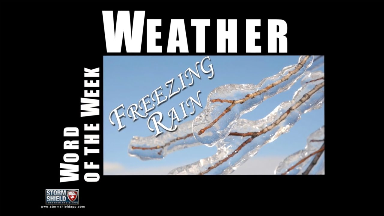 How does freezing rain form?   Weather Word of the Week - YouTube