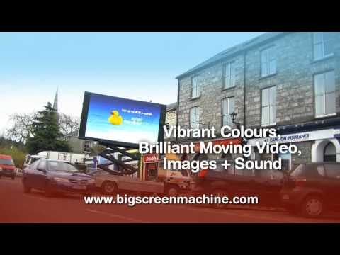 Big Screen Machine: Outdoor Digital Advertising