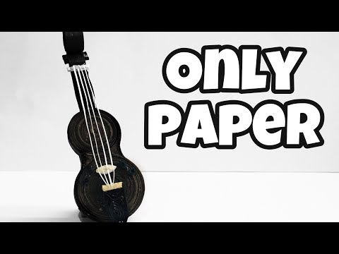 Quilled Guitar | make quilling paper GUITAR | quilling ideas | creative way to use paper