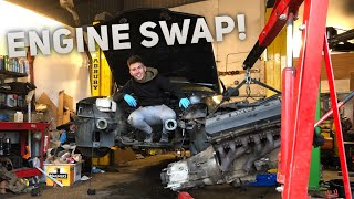 ENGINE SWAPPING MY BMW E36!!!