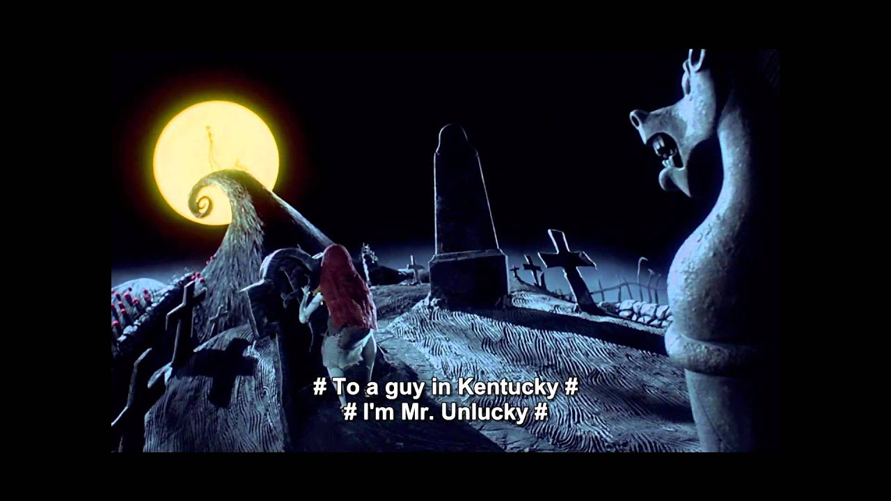The Nightmare Before Christmas - Jack's Lament (w/ lyrics) - YouTube
