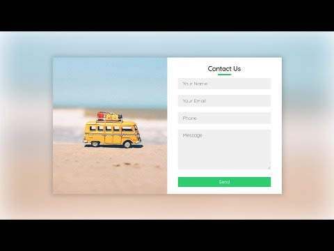 Responsive Contact Us Form Using HTML & CSS (2020)
