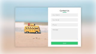 Responsive Contact Us Form Using Html & Css  2020
