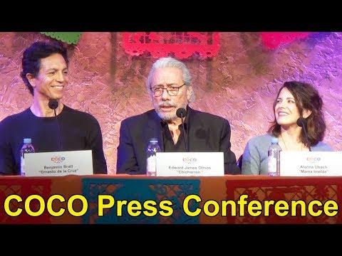 Disney Pixar COCO Press Conference with Director Lee Unkrich, Benjamin Bratt, Edward James Olmos