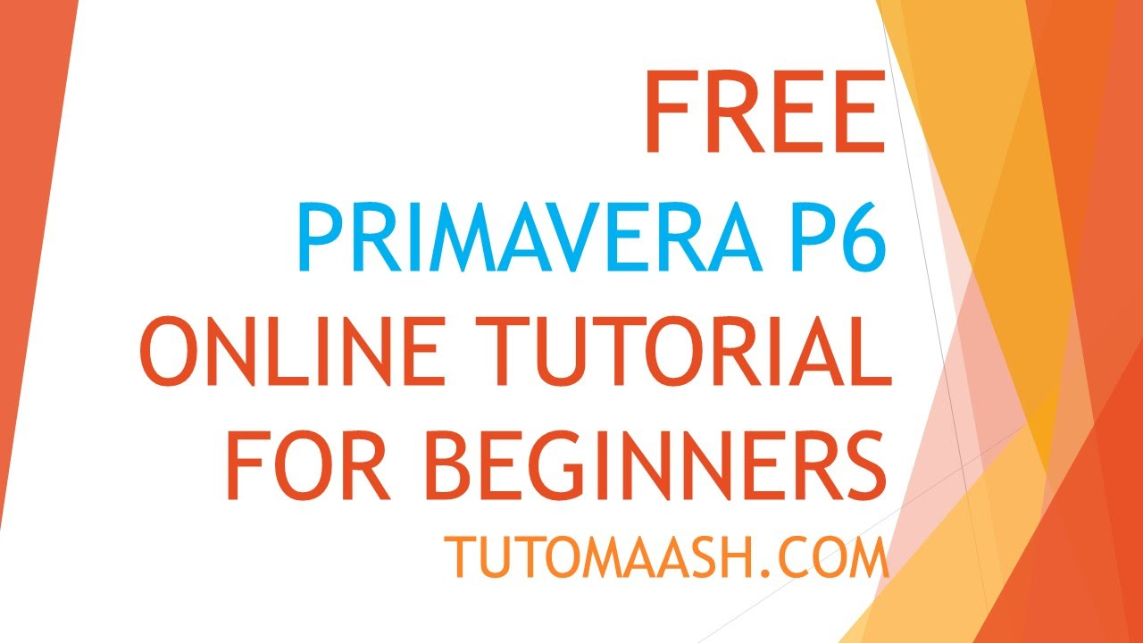 primavera tutorial for beginners pdf