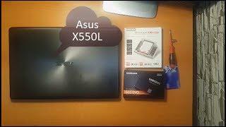 ASUS X550L DİZÜSTÜ NOTEBOOK SAMSUNG EVO SSD HDD ve DARK STORX KIZAK MONTAJI