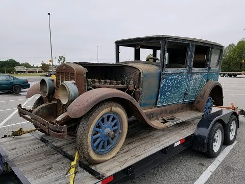 1928 FRANKLIN FIRST START 71 YEARS OFF THE ROAD WILL IT RUN?