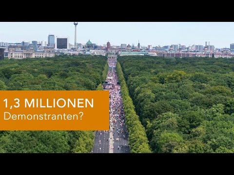 1,3 MILLIONEN Demonstranten? In euren Köpfen vielleicht...