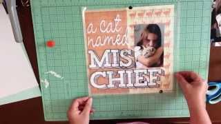 A Cat Named Mischief - Scrapbook Process with the JBS Mercantile October Kit