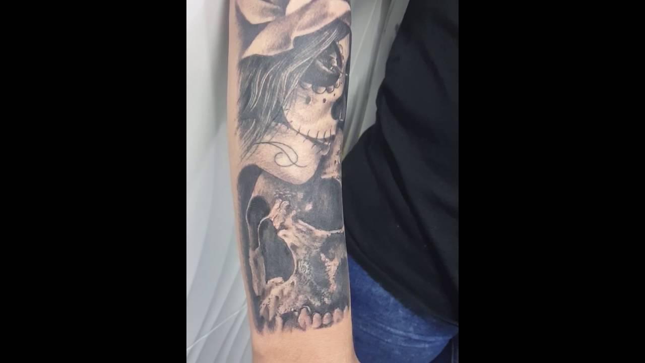 Tatuaje Catrina Calavera Rosa Youtube