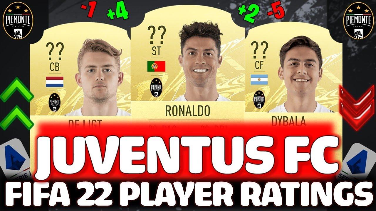 FIFA 22 | JUVENTUS PLAYER RATINGS PREDICTIONS!! FT. RONALDO, DE LIGT, DYBALA ETC.. (FIFA 22 RATINGS)