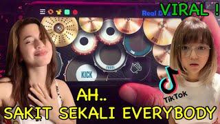 DJ SAKIT SEKALI EVERYBODY x DAMON VACATION - TIK TOK VIRAL   REAL DRUM COVER