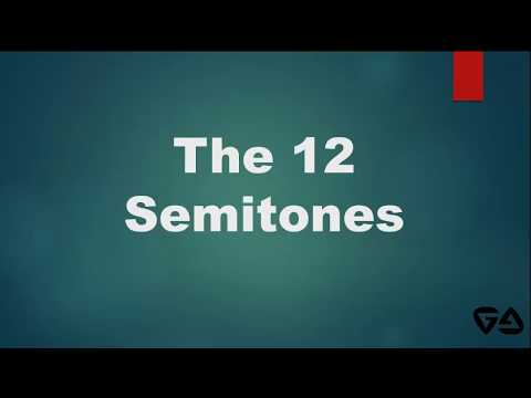 Music Theory : The 12 Semitones12 Musical Notes of the Western Music Filipino