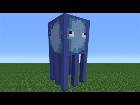 Minecraft Tutorial How To Make A Squid Statue Youtube