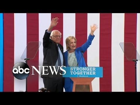 Bernie Sanders Endorses Hillary Clinton for President