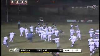 Mary Persons High #37 Kenny Miller kicks 12 yard field goal to win Game!