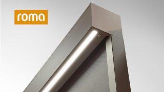 Integrierte LED-Beleuchtung im zipSCREEN.2 Textilscreen