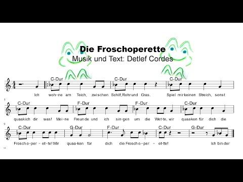 Die Froschoperette   Lieder mit Noten #10