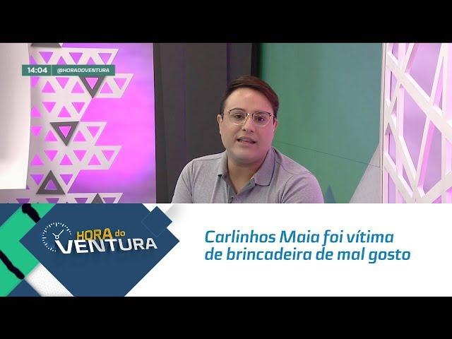 Carlinhos Maia foi vítima de brincadeira de mal gosto - Bloco 01