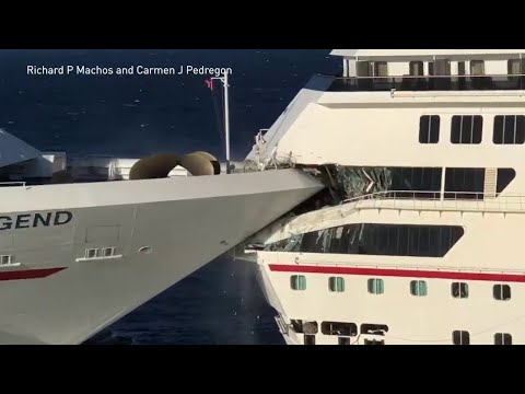 Carnival Glory strikes Carnival Legend in Cozumel, Mexico