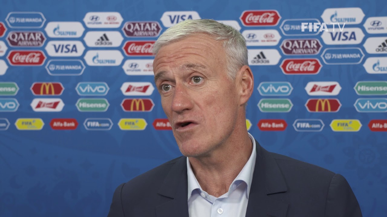 didier deschamps france final draw reaction youtube. Black Bedroom Furniture Sets. Home Design Ideas