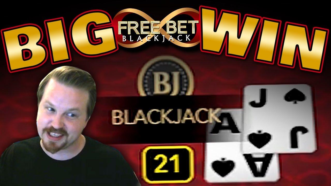 Free Bet Blackjack Winning Session Youtube