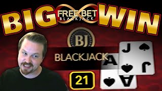 Free Bet Blackjack Winning Session