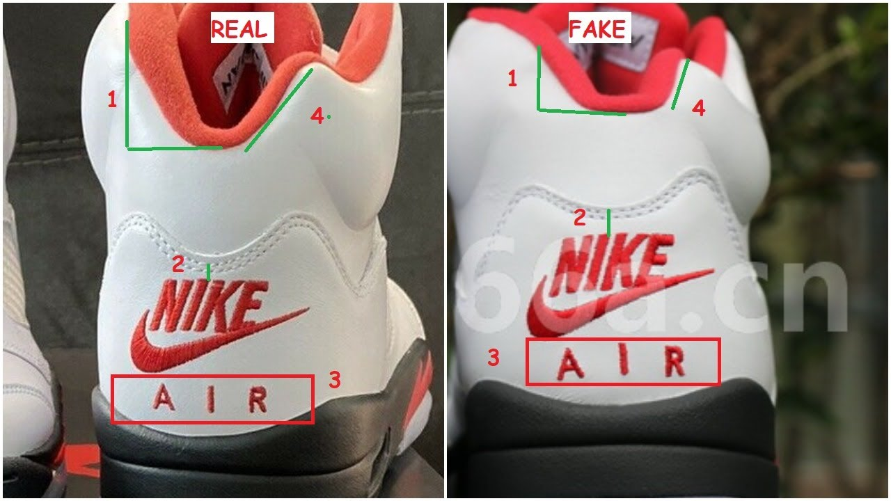 Fake Air Jordan 5 Fire Red