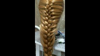 Прическа на каждый день с плетением. Braided hairstyle for long hair.(В этом видео я расскажу как делать красивую и быструю прическу. Подписывайтесь на мой канал и ставьте Лайки..., 2013-02-02T05:19:08.000Z)