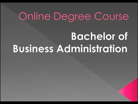Online Degree Course: Bachelor of Business Administration