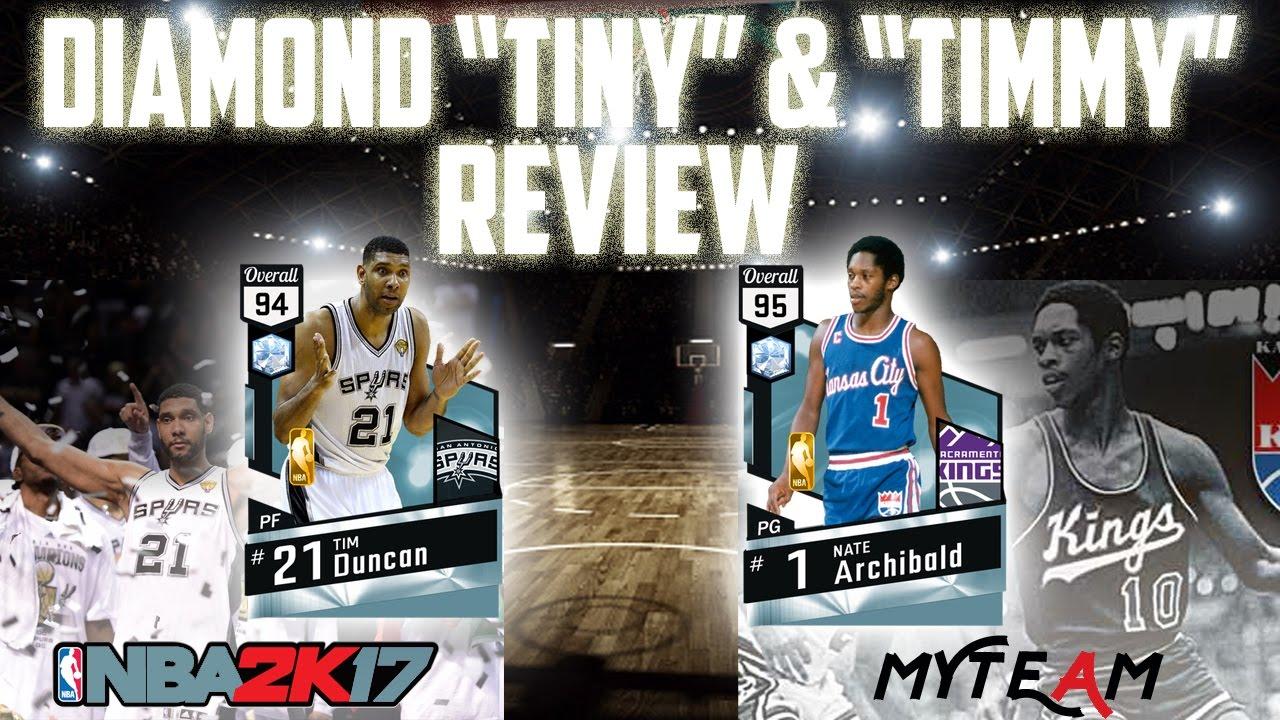 """NBA2K17 DIAMOND TIM DUNCAN & NATE """"TINY"""" ARCHIBALD REVIEW"""
